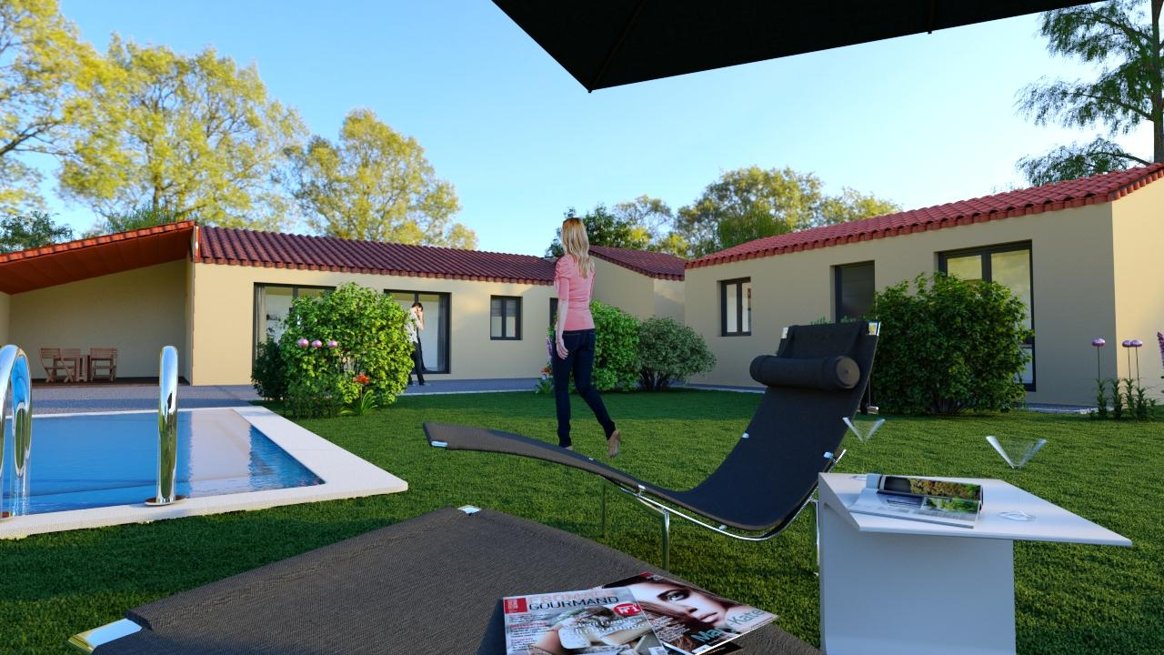 Piscine et pool house