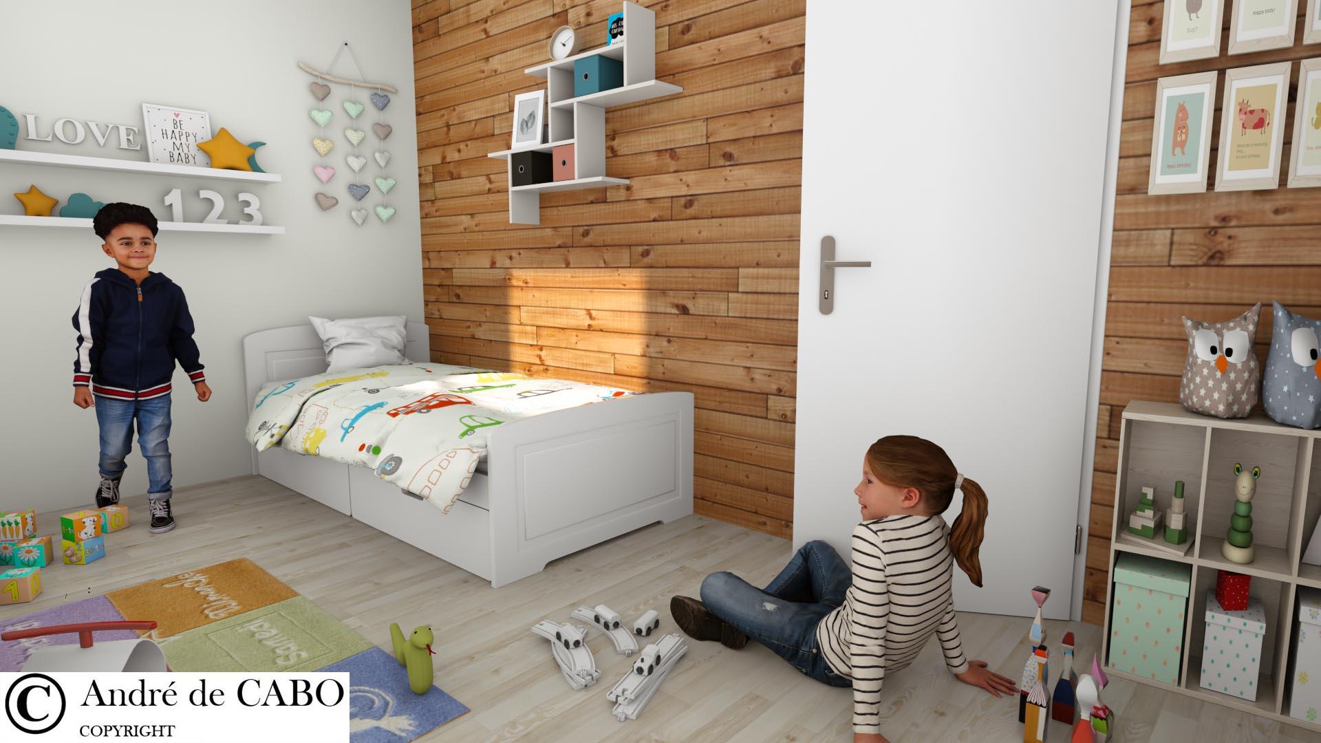 Vue 3D chambre enfants